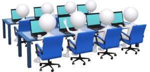 e-commerce concept fait de la formation de groupe