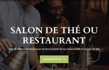 Site internet restaurant et salons de thé