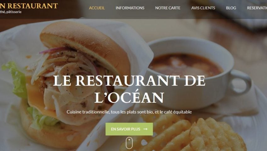 Site internet pour restaurants