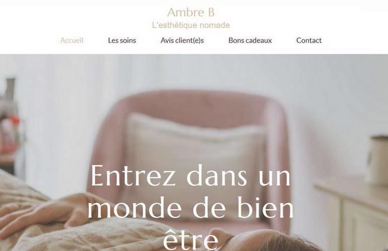 Ambre B Institut client de e-Commerce Concept