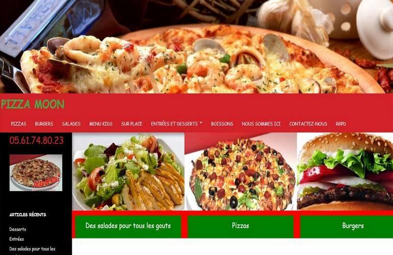 Pizza Moon client de e-Commerce Concept