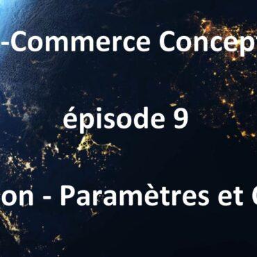 Tuto Les paramètres de votre boutique en ligne - épisode 9